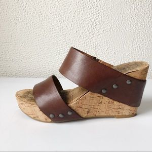 Lucky Brand | Magnolia Cork Wedge Sandal Brown 7.5